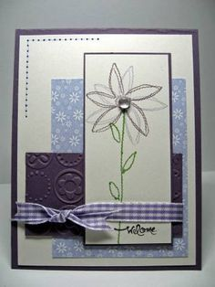 Sew seasonal flower with unique printed paper layering