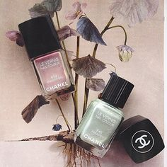 Two perfectly unique nail colours from @chanelofficial - now which one should I wear? 😍 💅 #chanel #chanelnailvarnish #nailvarnish #nailpolish #chanelparadiso #chanelatmosphere #greennails #turquoisenails #nails #naillook #rosegoldblog #bblogger #bbloggers #fblogger #fbloggers #blog #blogger #blogging #beauty  #beautyblogger #purplenails #metallic #shiny #spring #floral #springtime #pretty