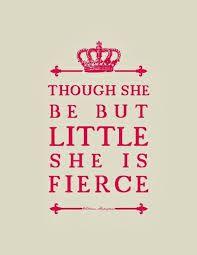 Acknowledge the fierce Embrace the fierce Be the fierce