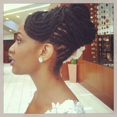 """Wedding Day"" Locs styled by Athena at #circleofpeacenaturalhairspace #maintainyourcirlce"
