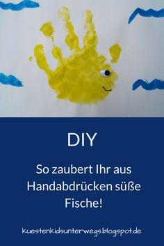 diy mit wasserfarben fische aus handabdr cken zaubern niedliche fische handabdruck und. Black Bedroom Furniture Sets. Home Design Ideas