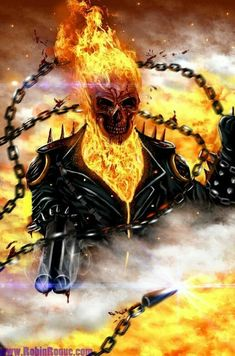 Ghost Rider is the name of several fictional supernatural antiheroes appearing in comic books published by Marvel Comics. Marvel had previously used the. Rage Of Ghost Rider Ghost Rider Johnny Blaze, Ghost Rider Marvel, Ghost Rider Wallpaper, Skull Wallpaper, Ghost Rider Images, Gost Rider, Ghost Rider Tattoo, Harley Queen, Spirit Of Vengeance