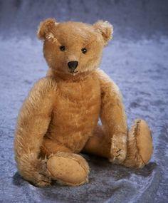 """12"""" German mohair teddy bear by Steiff"""