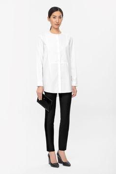 COS   Silk panel shirt