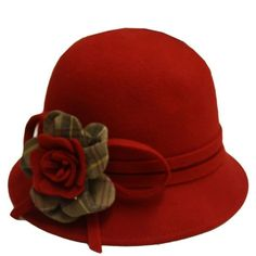 Barbour Ladies Barbour red lady jane hat (205 VEF) ❤ liked on Polyvore featuring accessories, hats, red, sombreros, headwear, women, flower corsage, wool brim hat, red hat and red corsage