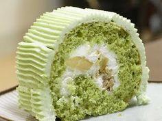 Matcha Chestnut Roll Cake