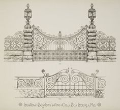 [Decorative metalwork gates.] From New York Public Library Digital Collections.