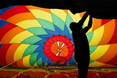Great American Balloon Race - Inside these huge balloons.
