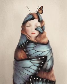 Tame the beast within? The struggle to leave the cocoon is what strengthens the butterflys wings so she can fly. Butterfly Artwork, Butterfly Drawing, Monarch Butterfly, Butterfly Illustration, Illustration Art, Illustrations, Metamorphosis Art, Butterfly Cocoon, Butterfly Transformation