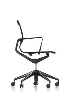 With its combination of a flexible plastic frame, elastic knitted fabric and  an integrated synchronizing mechanism, Physix, the new office chair by  Alberto Meda, explores the possibilities of dynamic sitting.