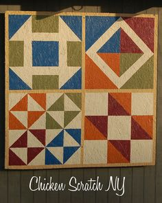 Paint a colorful quilt for your barn or backyard shed | Chicken Scratch NY