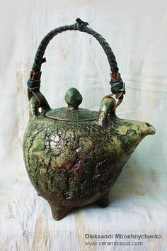 ○ Oleksandr Miroshnychenko. by angeline. teapot, green