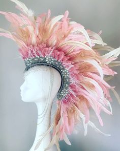 A personal favourite from my Etsy shop https://www.etsy.com/uk/listing/588485262/pretty-in-pink-feather-festival-mohawk