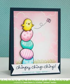 the Lawn Fawn blog: A Cute Chirpy Chirp Chirp Easter Card by Yainea!