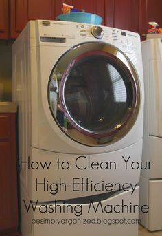 Great tips on this blog including this one on cleaning your HE washing machine