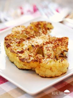 Cauliflower Steaks - cauliflower, olive oil, kosher salt, garlic powder, paprika, coriander, black pepper