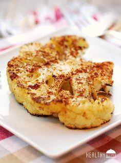 Cauliflower Steaks - cauliflower, olive oil, kosher salt, garlic powder, paprika, coriander, black pepper