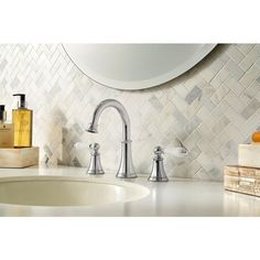 Pfister Courant 8 in. 2-Handle Bathroom Faucet Polished Chrome LF-049-COPC