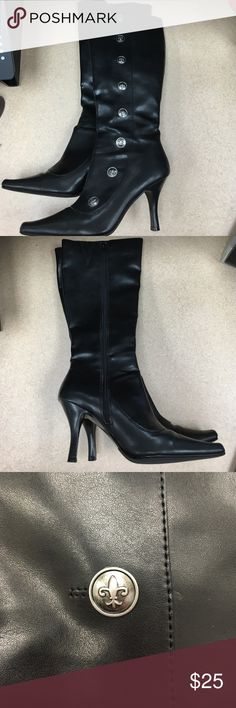 Mia 2 Black tall boots Very good condition! Mia Shoes