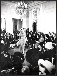 Jungle model, Christian Dior Spring/Summer fashion show 1947. Discover more on www.dior.com