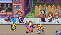 The Simpsons Arcade by AlbertoV on DeviantArt