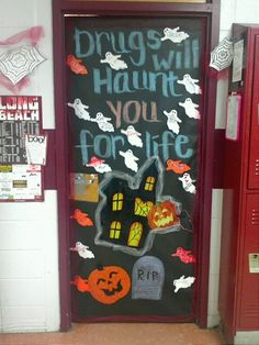 My classroom door for Red Ribbon Week! :)
