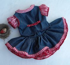 Toddler Girls Denim Cowgirl Pageant-Party by ThePolkaDotRabbits