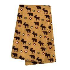 Trend Lab Baby Boy Printed Flannel Swaddle Blanket, B