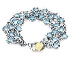 "Tacori. Sky Blue Topaz Bracelet from the ""Island Rains"" collection.  Style no: SB100Y02"