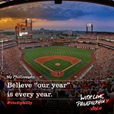 """My Phillyosophy: Believe """"our year"""" is every year. With Love, Philadelphia XOXO"""