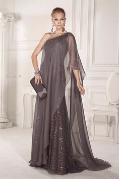Find More Evening Dresses Information about fashion gray  long evening dress 2016 elegant one shoulder sequin slim chiffon  backless women pageant gown for formal  party,High Quality dresses and evening gowns,China gown silk Suppliers, Cheap dress minnie from suzhou  helen wedding dress company on Aliexpress.com