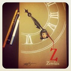 ...and Z is for Zenobia. The ABC of Edgar Allan Poe  by David G. Forés: challenge achieved  (http://instagram.com/donvito)