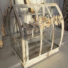Distressed showcase shabby chic  home decor by AnitaSperoDesign