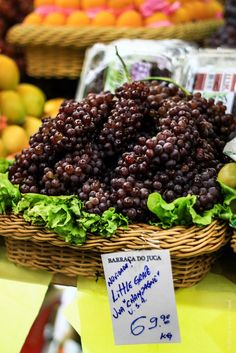 Brazil isn't cheap: Little Grapes at the Saõ Paulo market: 69 Real = $30 per kg   Drink Tea and Travel | Brazil Travel Tips: 5 Things To Know Before Traveling to Brazil | http://www.drinkteatravel.com