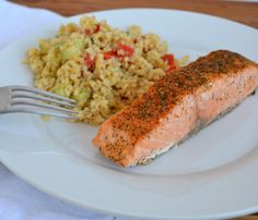 Dining Room, Good View Picture Easy Crusted Salmon Quick Dinner Recipe White Color Plate Circle Shaped Picture Fork Long Shaped ~ Make You're Dinner Have Fun With The Elegant Dinner Recipes Like In This Picture