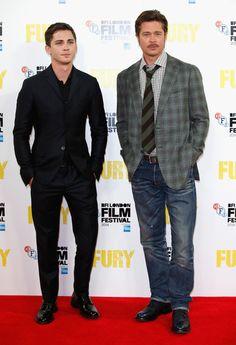 "Brad Pitt Photos: ""Fury"" - Photocall - 58th BFI London Film Festival"