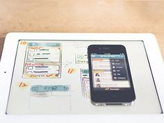 Sample work from a UX designer. Transferring work on paper to the product.