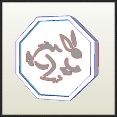 Jackie Chan Adventures - Rabbit Talisman Free Papercraft Download - http://www.papercraftsquare.com/jackie-chan-adventures-rabbit-talisman-free-papercraft-download.html