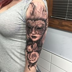 Venetian mask tattoos represent a dramatic way to reveal your theatrical side and carry both the tragedy and comedy of life.