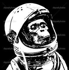 stencil macaco - Pesquisa Google