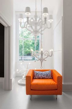 20 Most Impressive Light Designs by MOOOia splash of orange brings the room a right amount of color!! love it