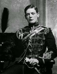A Rare Shot Of A Young Winston Churchill, 1895