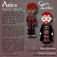 "Goth:  #Signs & #Sorts ~ ""#Goth Zodiac: Aries,"" by Trellia, at deviantART."