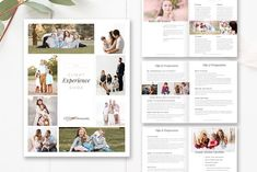 Prepare clients for their family photoshoot with a simple, clean welcome guide. This guide is made to be easy to customize! Use pages in this magazine format or Photography Brochure, Photography Marketing, Magazine Format, Magazine Template, Brochure Design, Booklet Design, Design Layouts, Design Templates, Design Design