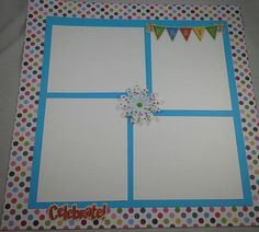 Happy Birthday 12 x 12 Premade Scrapbook Page Boy or Girl