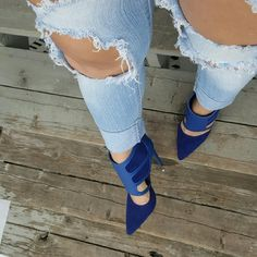 Royalty blue- More sizes available A exclusive way to bring royal blue into your pumps! Take your look to the next level by teaming this with a black curve huggingsilhouette dress and a statement jacket. These truly will answer all your wardrobe needs! ROYALTY-BLUE features a stacked pointed toe, stiletto heel,cutout construction with a unique exclusive design to die for! Lightly padded insole for comfort.  Pump Height: Approx 9 Inches Heel Height: Approx 4.5 Inches Materials: Man Made…