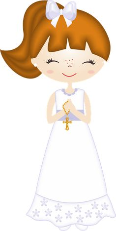Nice Girls First Communion Free Images Clipart. This images will help you for doing decorations, invitations, toppers, cards an. Deco Table Communion, Communion Centerpieces, Première Communion, First Holy Communion, Free Printable Invitations, Baptism Invitations, Printables, Dots Free, Candy Bar Labels
