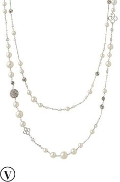Complete a modern classic look with a pearl necklace with CZ accents from Stella & Dot.	Find fashion necklaces, trendy necklaces, pendants, chokers & more.