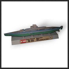 WWI German Submarine U-14 Free Paper Model Download - http://www.papercraftsquare.com/wwi-german-submarine-u-14-free-paper-model-download.html