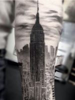 15 Of The Most Insane New York City-Inspired Tattoos #refinery29 http://www.refinery29.com/nyc-inspired-tattoos#slide-9 Becca Genné-Bacon took a much different approach to the Statue of Liberty, turning her into a pinup girl in a tattoo for her friend Luca. Lady Liberty would totally have side-boob if she were built today, don't you think?